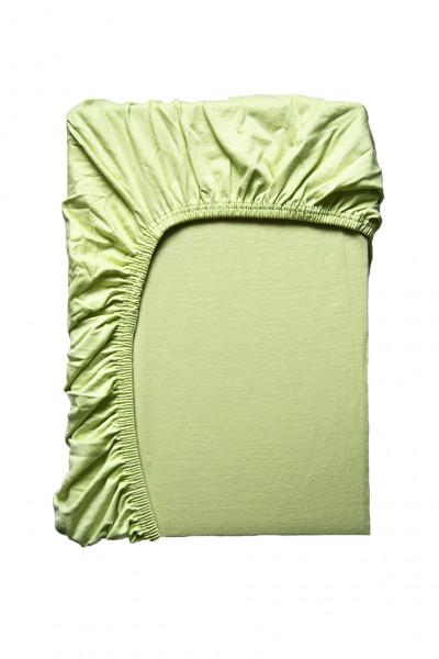 Hochwertiges Spannbettlaken in Hellgrün