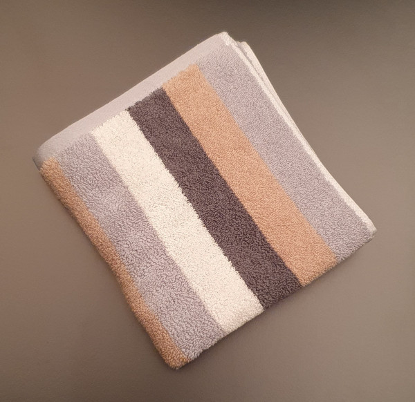 Handtuch: Milano/Lotta, 50/100 cm, grau