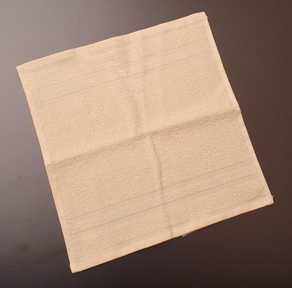 Seiftuch: Riva/Nina, 30/30 cm, vanille