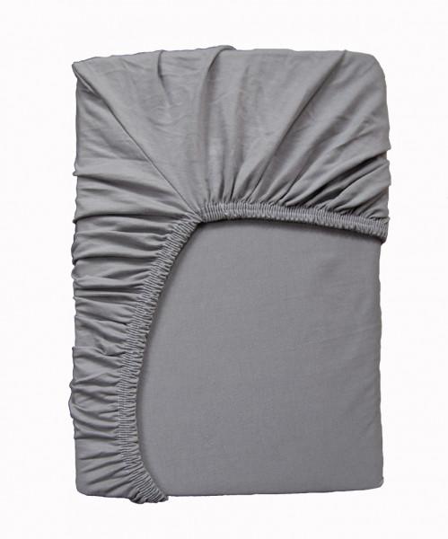 HIGH-CLASS Spannbettlaken Set für Flair und Arto, grau