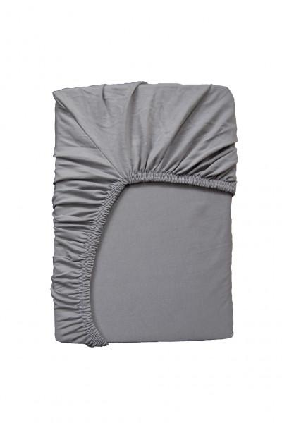 Hochwertiges Spannbettlaken in Grau