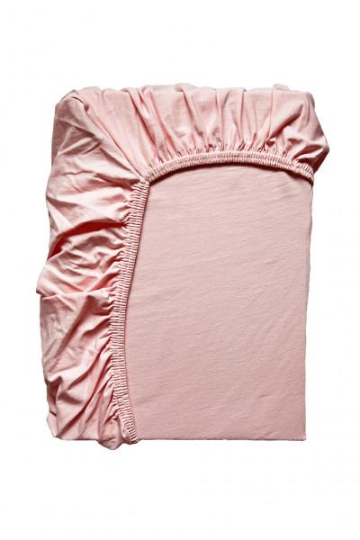 Hochwertiges Spannbettlaken in Rosa