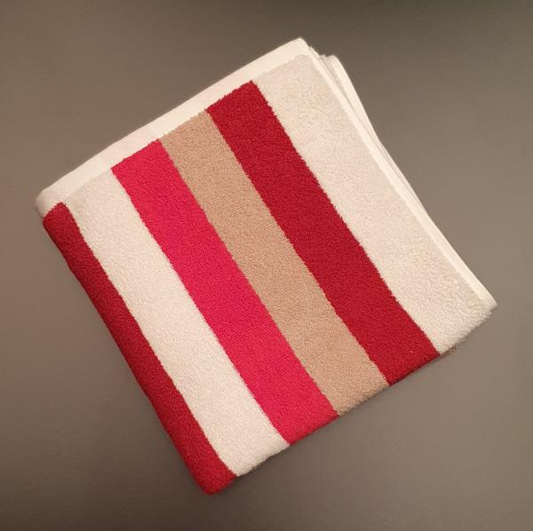Handtuch: Milano/Lotta, 50/100 cm, rot