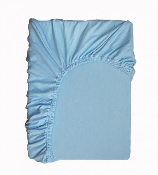 Hochwertiges Spannbettlaken in Hellblau