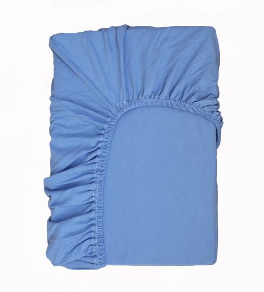 Hochwertiges Spannbettlaken in Blau