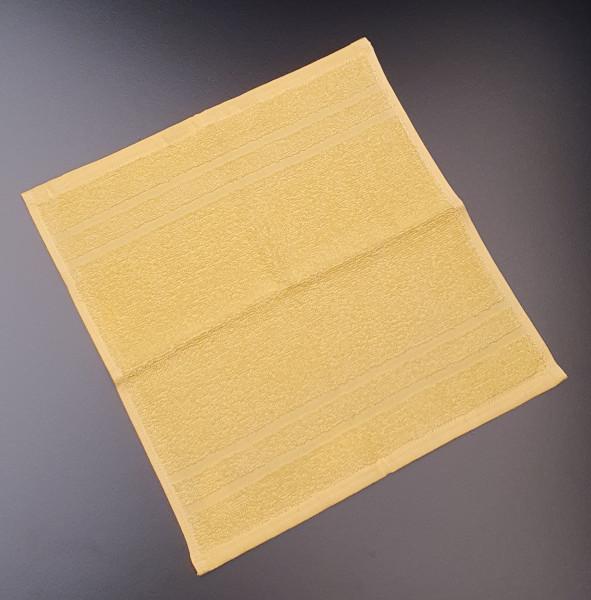 Seiftuch: Riva/Nina, 30/30 cm, gelb